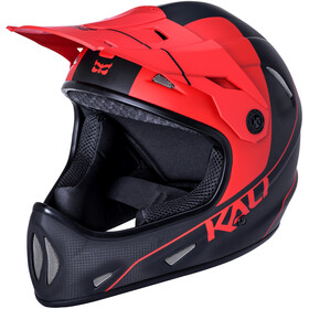 Kali Alpine Carbon Pulse Casque Homme, matt black/red